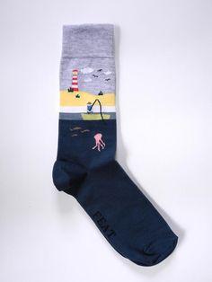 Men's Grey Fishing Boat sock - FEAT. sock co.