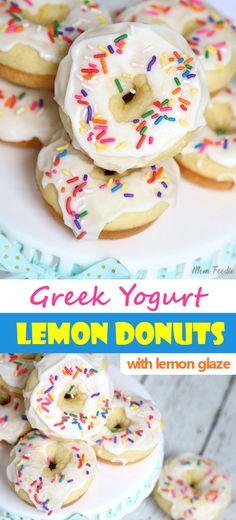 Greek Yogurt Lemon Donuts with Lemon Glaze