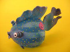 Ceramic Blowfish Bank Unique Blowfish Piggy by PondScumCeramics Dark Highlights, Handmade Art, Toothbrush Holder, Ceramic Art, Piggy Bank, Small Businesses, Banks, Jewelry Art, Pond