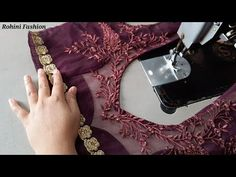 Net blouse design cutting and stitching back neck - YouTube Netted Blouse Designs, Choli Blouse Design, Blouse Designs High Neck, Neck Designs For Suits, Back Neck Designs, Fancy Blouse Designs, Blouse Neck Patterns, Designer Blouse Patterns, Net Blouses