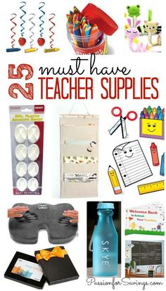 25 Must Have Teacher Supplies! Back to School Ideas for the Classroom and Teacher Survival Supplies!