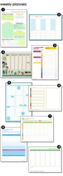 Weekly planing printables