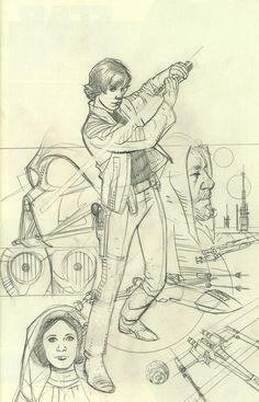 Star Wars Rebel Heist #4 Cover C Incentive Adam Hughes Ultra-Rare Sketch Cover