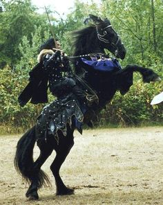 The destrier, or war horse