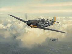 Abbeville Commander, by Darryl Legg (Messerschmitt Bf 109F)
