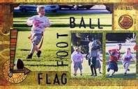 Flag football scrapbook layout