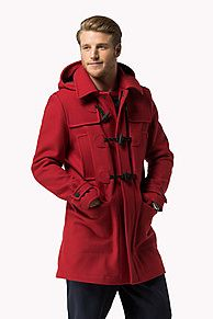 Shop the red wool blend duffle coat from the latest Tommy Hilfiger coats collection for men. Free returns