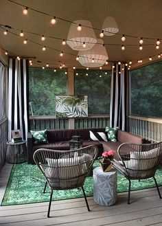 The Happiness of Having Yard Patios – Outdoor Patio Decor Terrazas Chill Out, Porch Kits, Porch Ideas, Patio Ideas, Lanai Ideas, Backyard Ideas, Sunroom Ideas, Backyard Patio, Backyard Landscaping