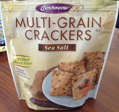 Crunchmaster Sea Salt Multi-Grain Crackers -- so deliciously crunchy!  Purchased at Publix.  Certified GF.
