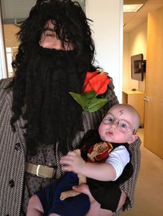 Hagrid and baby Harry Potter