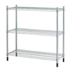 Ikea had a version of this that was 18 inches square. I had it from before but it fit into a corner of the hooch nicely OMAR Shelving unit IKEA Easy to assemble, no tools required. Can be added on to vertically in order to provide more storage space. Wire Shelving, Kitchen Shelves, Adjustable Shelving, Kitchen Ware, Pantry Storage, Storage Shelves, Storage Spaces, Storage Ideas, Ideas