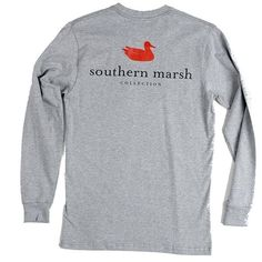 Southern Marsh Authentic Long Sleeve T-shirt (€29) ❤ liked on Polyvore featuring tops, t-shirts, shirts, long sleeve shirts, southern marsh, long-sleeve shirt, longsleeve tee, t shirts and tee-shirt