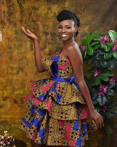 Ankara Short Gown Styles, Short African Dresses, African Print Dresses, African Fashion Dresses, Nigerian Fashion, Ghanaian Fashion, Ankara Fashion, African Prints, Ankara Dress Designs