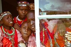#Art#Families#Fashion photographer Xavi Menos  Maasai embroiderers in Kenya