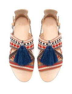 Zara Sandals with Tassels are the must-have shoes for music festival season!