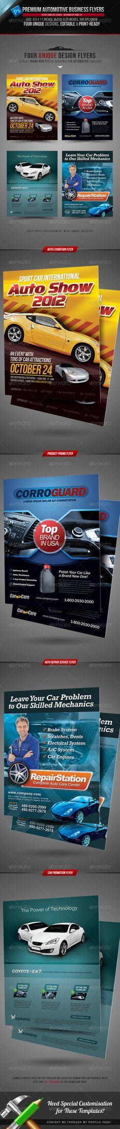 Car Dealer \ Auto Services Business Flyer Auto service, Business - auto detailing flyer template