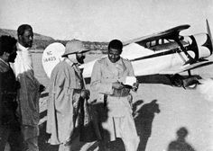 Haile Selassie & his Beechcraft Staggerwing, c 1935