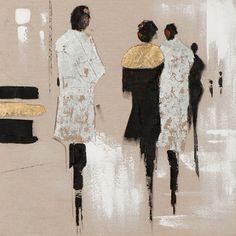 Vintage Boulevard Gemälde Figuren | Wayfair.de