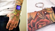 The touchscreen-equipped iPod Nano spawned a multitude of straps and cases letting users wear it like a watch. But none are as creative, or downright creepy, as this body piercing artist who had four magnets implanted in his arm to hold it in place. Dermal Implants, Dermal Piercing, Piercings, Ipod Nano, Signs Of True Love, Gadget Magazine, Body Modifications, Body Mods, Geek