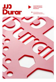 Lo Siento Studio – DURAR, graphic identity for the Contemporary Jewerly Design Program