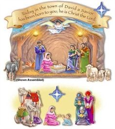 Nativity and Magi Visit Bulletin Board Set