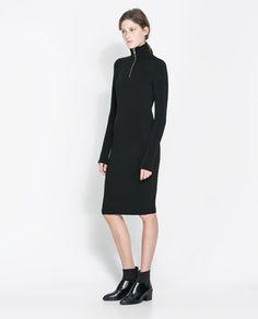 OTTOMAN DRESS WITH ZIP - Dresses - Woman   ZARA Greece