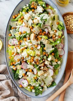 This easy Caesar salad recipe stars romaine lettuce, homemade croutons, Parmesan cheese, and a creamy homemade Caesar dressing. A great main or side dish!