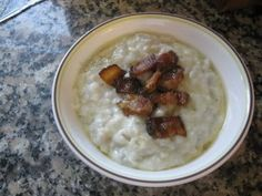 Bryndzove Halusky-- my all time favorite Slovak meal. Potato dumplings with goat cheese and bacon.