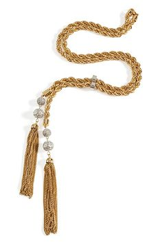 STYLEBOP.com | Gold-TonedRunwayReportTasselNecklacebyR.J.GRAZIANO | the latest trends from the capitals of the world