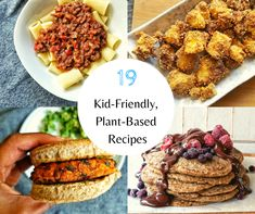 19 Kid-Friendly Plant-Based Recipes that everyone can get behind. Using plant-based, approachable ingredients for everyday dishes. Vegan Recipes Kid Friendly, Tasty Vegetarian Recipes, Kid Friendly Meals, Delicious Recipes, Good Food, Yummy Food, Everyday Dishes, Natural Peanut Butter, Plant Based Eating