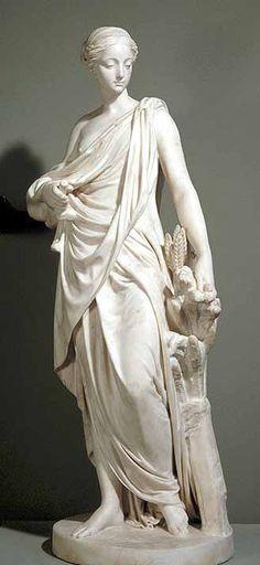 """""""Ceres"""" by Augustin Pajou (c. 1765) The Louvre, Paris"""