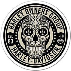 Adhesivo Pegatina Adhesivo Sticker para coche y moto Harley Owners Group 10x 10cm Aufkleber autocollant