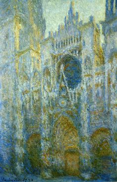 Claude Monet, Rouen Cathedral, West Facade, Noon, 1894.