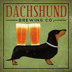 Dachshund Brewing Co. Pósters por Ryan Fowler.