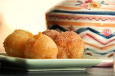 Easy doughnut holes made from #GF Bisquick!