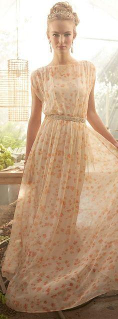 Peach blossom maxi