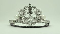 pearl and diamond tiara created by Princess of Turnovo of Bulgaria
