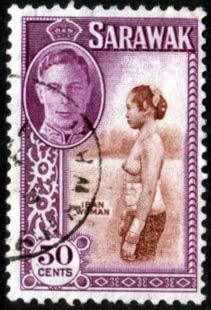Sarawak 1950 SG 182 Iban Woman Fine Used SG 182 Scott 191 Other Sarawak Stamps HERE