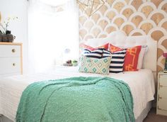 """Did you think that you had to paint your walls in one color from top to bottom? Wrong!! I mean, you totally can, of course…but you certainly don't """"have to."""" There are tons of other things you can do"""