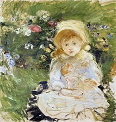 Young Girl with Doll - Berthe Morisot, 1883