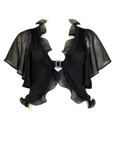 New Arrival Plus Size Fashions!  $13 Sexy Ruffled Shrug  from www.JasmineUSAClothing.Com  Click Here:  http://www.jasmineusaclothing.com/osc/products_new.php