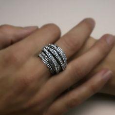3.00 carats Natural Diamond Big Wedding Band Ring 14k White Gold. $4,380.00, via Etsy.