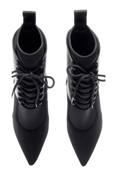 SCUBA-LOOK POINTED-TOE BOOTS #AlexanderWangHM #HMCollaboration