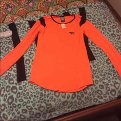 Brand new ultimaite top Brand new with tags . Cute to wear for working out or for relaxtion. PINK Victoria's Secret Tops Tees - Long Sleeve