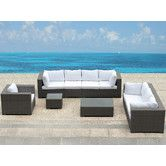 Beliani Found it at Wayfair - Maestro 7 Piece Deep Seating Group with Cushion