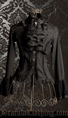 Goth Cravat Blouse  Draculaclothing.com