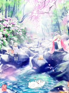 :D Kogitsune is actually in a fanart Manga Anime, Anime Art, Natsume Takashi, Hotarubi No Mori, Natsume Yuujinchou, Scenery Wallpaper, Free Anime, Manga Illustration, Illustrations