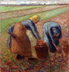 Camille Pissarro (French artist, 1830-1903) Potato Harvest