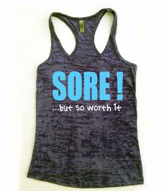 Sore but so Worth It // Crossfit Tank Top // Workout Tank Top // Fitness tank top // Exercise Tank Top on Etsy, $20.00