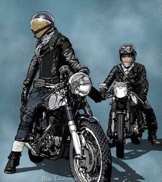 View a couple of my most popular builds - unique scrambler ideas like this Triumph Cafe Racer, Cb 750 Cafe Racer, Cafe Racer Style, Vintage Helmet, Vintage Racing, Bike Illustration, Motorcycle Style, Enfield Motorcycle, Bike Art
